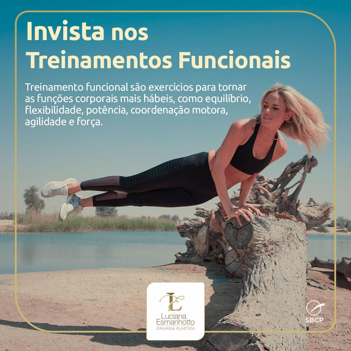 Invista Nos Treinamentos Funcionais Luciana Esmanhotto